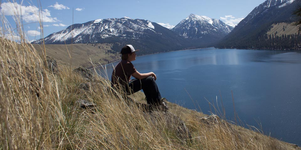 kid at wallowa lake
